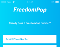 FreedomPop iOS UI/UX