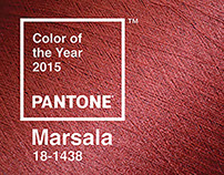 Pantone Color Of the Years: Marsala