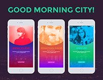 User profile, Good morning city