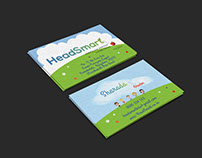 HeadSmart business cards design by StartTall Branding