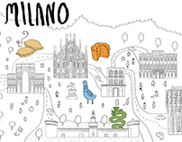 MILANO-coloring postcards
