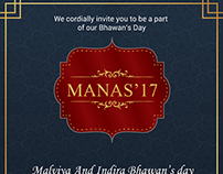 """Manas -The Bhawan Day"" Branding"