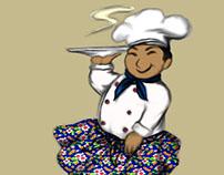 Ilustração cozinheiro