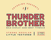Thunderbrother - Bold Display Sans-Serif Typeface
