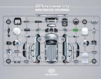 Keyvisual for Kia New Sportage Vehicle.