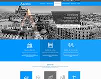 Diseño Web para Arcano Partners