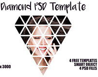 4 Free PSD Diamond Actions Template