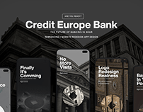 Credit Europe Bank Redesign | UX & UI