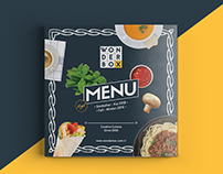 Wonderbox - Creative cousine menu