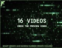 matrix binary and random numbers code