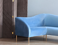 "Sofa ""Wave"" and folding screen"