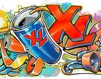 XL Energy Graffiti Art