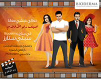 "Bioderma""Saif zyel Aflam"" Campaign booth illustrations"