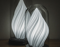 Fractal Waves Lamps