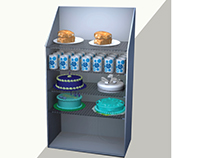 REFRIGERATED BAKED GOODS DISPLAY