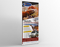Outdoor stationary for travel company.