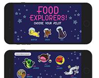 Food Explorers! Healthy app