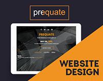 Prequate Website Design