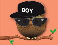 Happy Owl GIFs & T-SHIRT