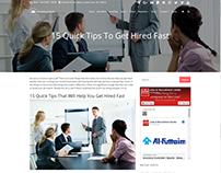 Blog Single-Post Page - Employment WordPress Theme