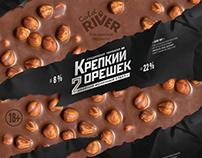 «HARD NUT» label design beer