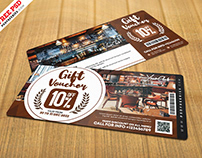 Cafe Gift Voucher Design PSD