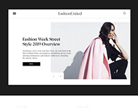 Redesign concept of FashionUnited