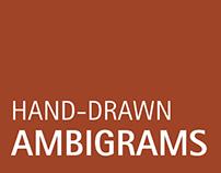 Hand-drawn Ambigrams