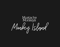 MUSTACHE MONKEYS - MONKEY ISLAND // CD Artwork // 2018