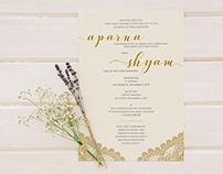 Aparna & Shyam – Wedding Invite