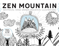 Hand Drawn Mountain Illustrations