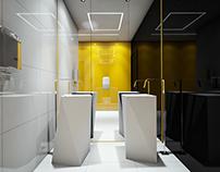 Black White Yellow Bath