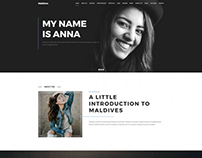 Portfolio WordPress theme Example for creative agency