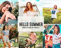 Free Hello Summer Mobile & Desktop Lightroom Presets