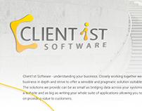 Client1st Software Logo design
