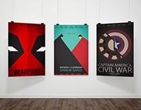 Minimalist Poster Design - Superhero Movies
