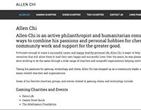 Allen Chi Website - Charities in Gaming & Tech