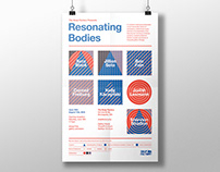 Resonating Bodies exhibition graphics