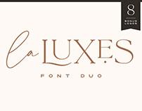 La Luxes Font Duo + Logos