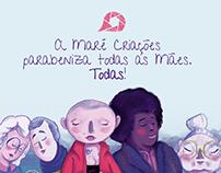 Ilustração do Dia de todas as mães, para Maré Criações