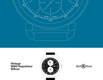 Bell & Ross WWII Regulateur Officer Watch Poster