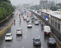 road veiw after rain