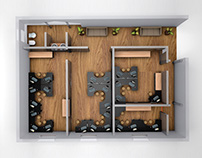 T.I. Interior Conceptual 3D Design - Curitiba - PR