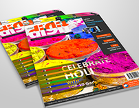 Magazine Cover Design - DIGIT (Holi Special)