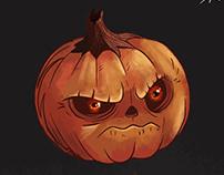 Angry Pumpkin Illustration