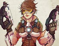 Tracer - Overwatch - Fan Art
