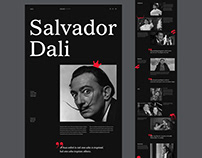 Salvador Dali biographical website