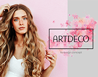 Artdeco cosmetic website redesign concept