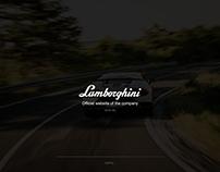 Lamborghini loading page