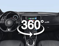 VW The Beetle | Interior view 360